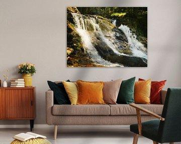 Riesloch Watervallen bij Bodenmais, Beieren 2 van Jörg Hausmann