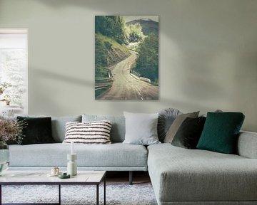 Slingerende weg omhoog van Pieter Wolthoorn