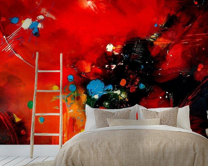 Beispiel fototapete: Farbexplosion Nr. 3 von Claudia Neubauer