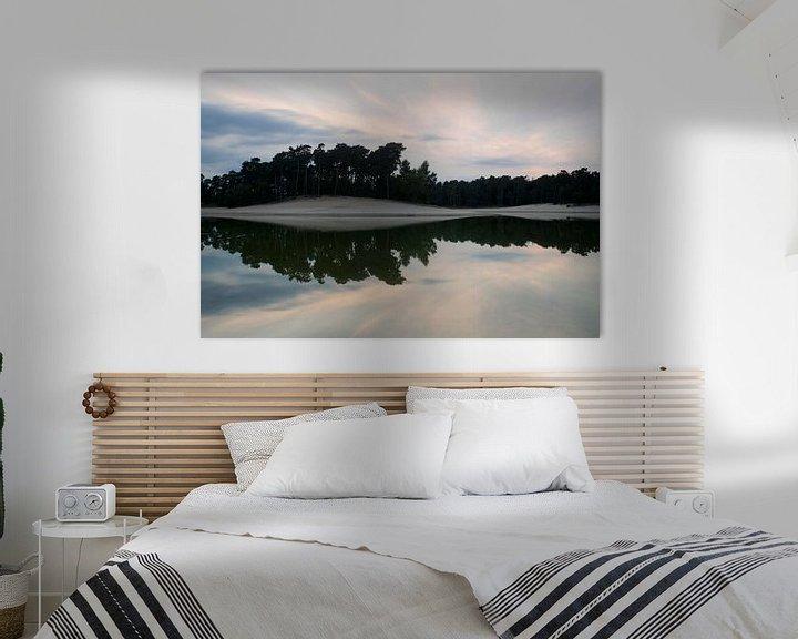 Sfeerimpressie: Henschotermeer bij zonsondergang van Pierre Timmermans