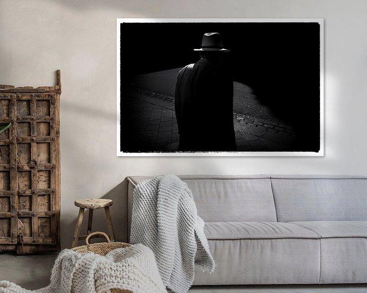 Sfeerimpressie: Hamburg Hat Film Noir style van Peter Nijsen