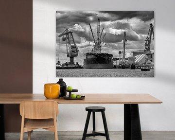 Transbordement dans le port d'Amsterdam sur Studio de Waay