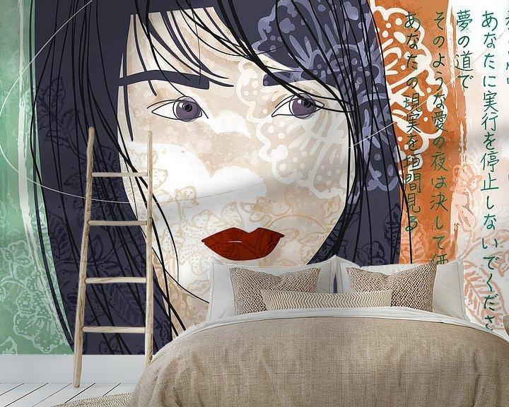 Sfeerimpressie behang: Op het pad van dromen van Ingrid Joustra
