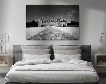Französisches Schloss schwarz-weiß von Jeroen Mikkers