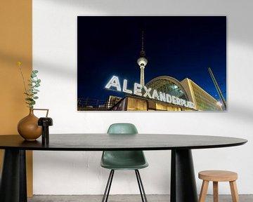 Berlin Alexanderplatz und Fernsehturm von Frank Herrmann