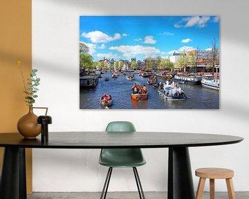 Königstag in Amsterdam an der Amstel von Nisangha Masselink