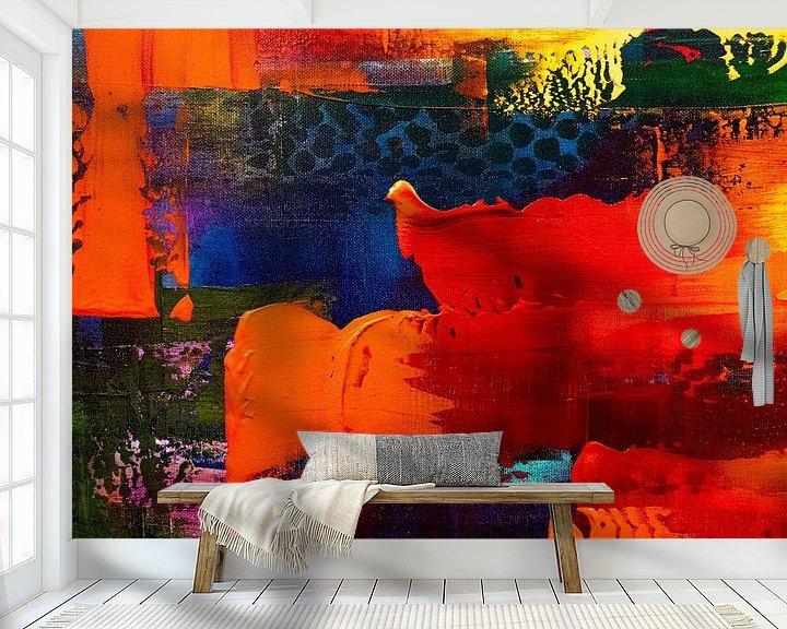 Sfeerimpressie behang: surrealistic love van Ursula Aubri
