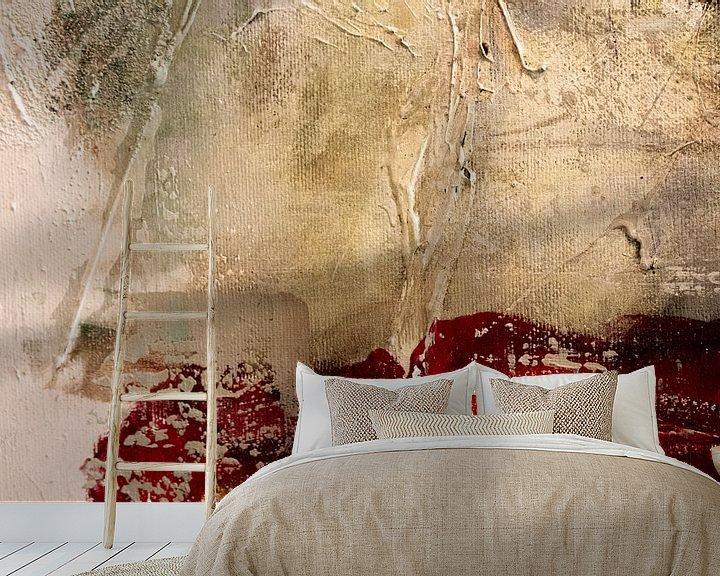 Sfeerimpressie behang: love conquers all van Ursula Aubri