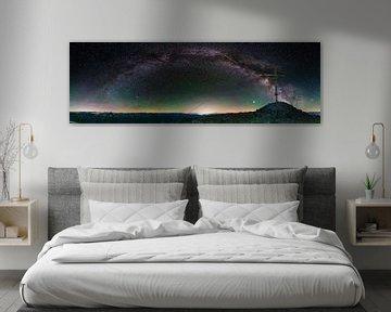 Milchstraßenpanorama auf Berg von Kurt Hohenbichler