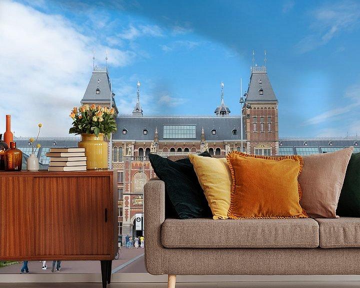 Sfeerimpressie behang: Rijksmuseum Amsterdam van Ivo de Rooij