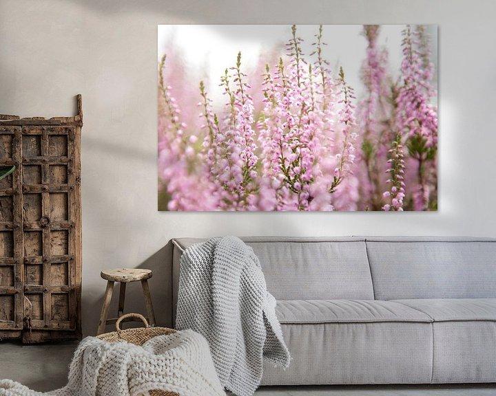 Sfeerimpressie: Bloeiende paarse heide bloemen van Karijn   Fine art Natuur en Reis Fotografie