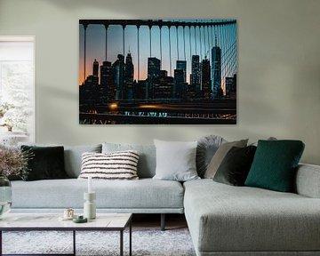 Skyline van Newyork van Laurenz Heymann