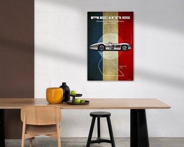 Mercedes W196 Streamline Reims Vintage von Theodor Decker