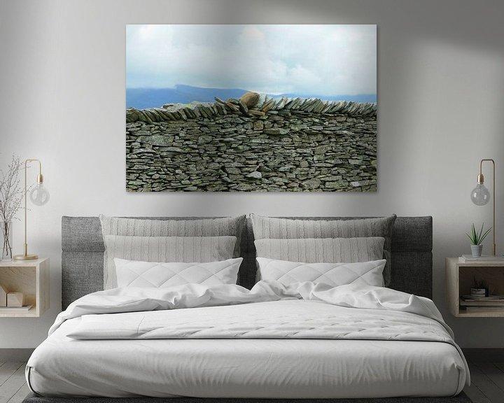 Beispiel: Steinwand im Lake District, Cumbria, England von Mieneke Andeweg-van Rijn
