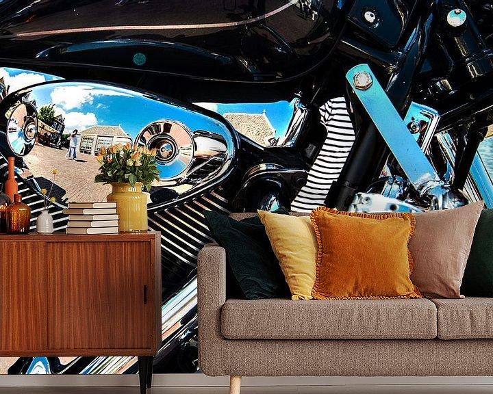Sfeerimpressie behang: Motorcycles and Chrome van Brian Morgan