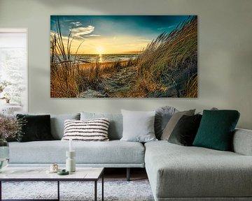 Noordzee met de duinen in Digital Art