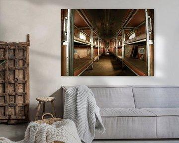 Abandoned sleeping train van Nathalie Snoeijen-van Eck