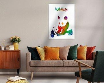 Panda von Printed Artings