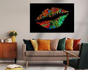 Meerkleurige lippen van Fred Odle