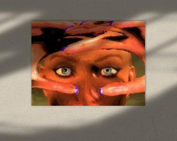 Blauwe ogen en paarse nagels van Maurice Dawson