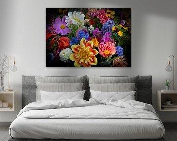 Blumen in Farbexplosion von Bianca ter Riet
