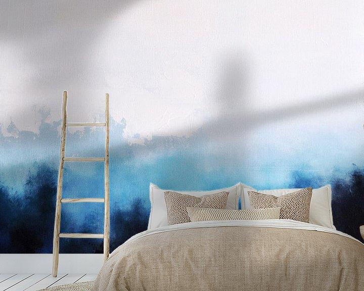 Sfeerimpressie behang: White Landscape 2 van Maria Kitano