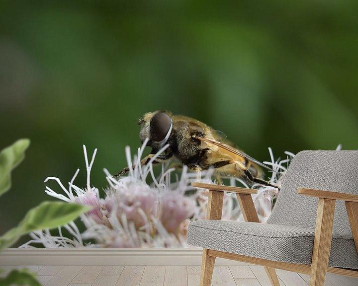 Beispiel fototapete: Bienen und Blumen von Daphne van der straaten