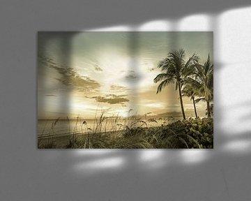 BONITA BEACH Zonsondergang | Vintage van Melanie Viola