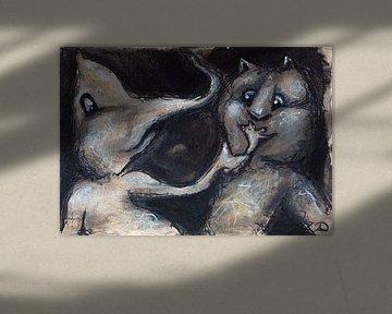 Muster Tinte Pastell 2 von Samantha Dekker