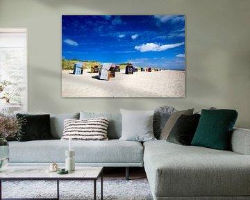 Strandkörbe auf Föhr von Angelika Stern