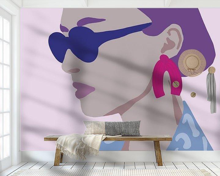 Sfeerimpressie behang: Summer. van YOPIE illustraties