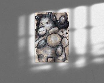 Muster Tinte Pastell und Betrachter von Samantha Dekker