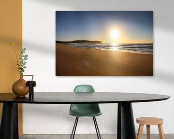 Ongerept strand 's morgens vroeg - Australië van Ginkgo Fotografie