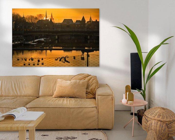Sfeerimpressie: Zonsopkomst in goud Amersfoort Koppelpoort van Jerome van den Berg