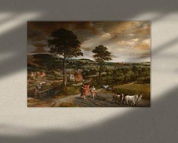 Landschaft mit der Berufung von Elisa,Jan Massys