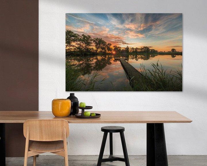 Sfeerimpressie: Steiger bij meer tijdens zonsopkomst van Moetwil en van Dijk - Fotografie