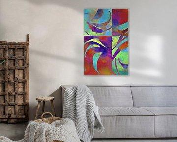 Kleuren in beweging - Kleur bewegen van Susann Serfezi