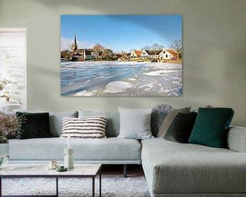 Dorpsgezicht van Broek in Waterland in Noord Holland in de winter van Nisangha Masselink