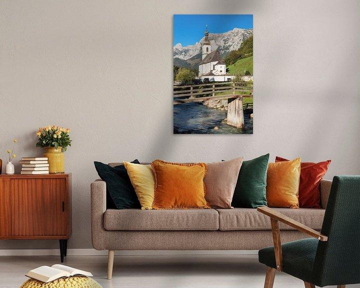 Sfeerimpressie: Parochiekerk St.Sebastian, Ramsau, Opper-Beieren, Duitsland van Markus Lange