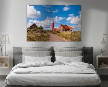 Dorpje aan de voet van de vuurtoren op Texel