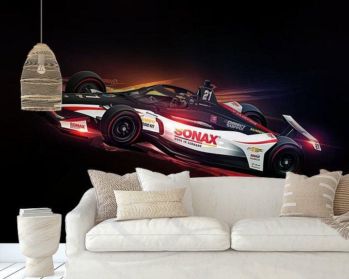 Beispiel fototapete: Rinus VeeKay Indy 500 von Nylz Race Art