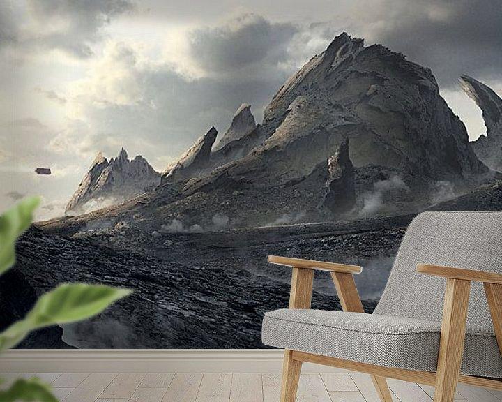 Beispiel fototapete: Abbruch Berg von Rocky Schouten