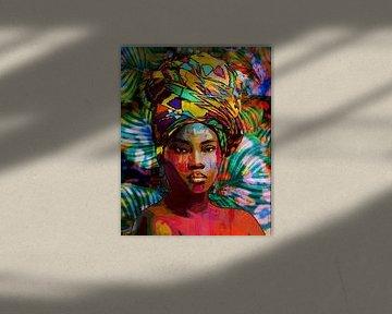 Frau aus dem tropischen Afrika von The Art Kroep