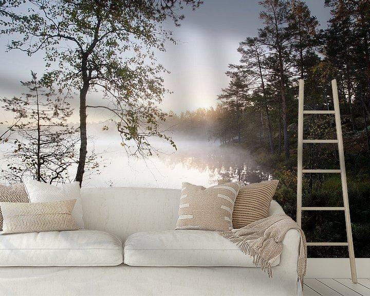 Sfeerimpressie behang: Zweedse ochtend van Mark Leeman