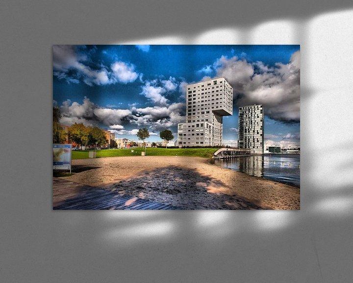 Sfeerimpressie: Almere the other Skyline in HDR van Brian Morgan