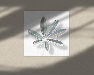 Blätter in Grün, Grau und Sandfarben von Color Square