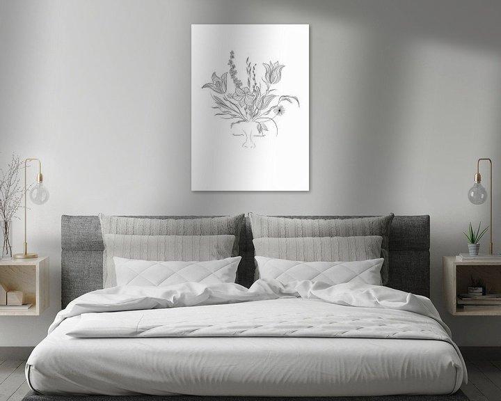 Beispiel: Flower Power - Blumen - Pflanzen - Schwarz-Weiss - Porträt von Studio Tosca