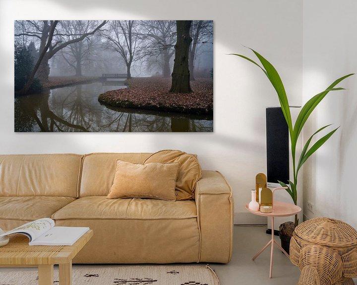 Sfeerimpressie: Kasteel Hillenraad Boukoul / Swalmen in de mist van Epic Photography