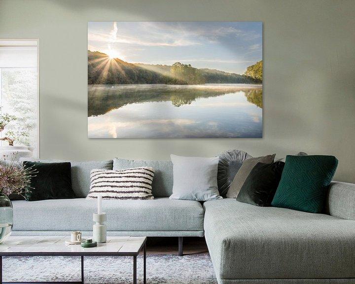 Beispiel: Sonnenaufgang am Cranenweyer-Stausee von John van de Gazelle
