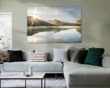 Sonnenaufgang am Cranenweyer-Stausee von John van de Gazelle